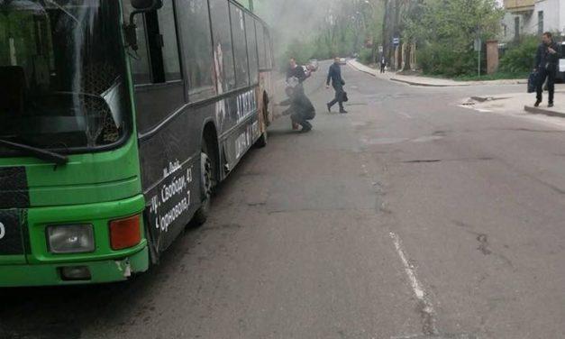 Зранку горіла маршрутка №53