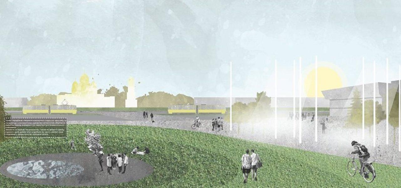 Як виглядатиме оновлена площа перед центром Довженка. Візуалізація