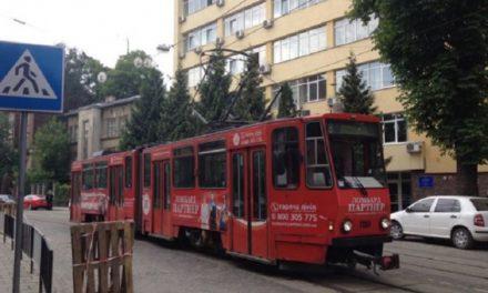 Трамваї з Сихова тимчасово не курсують до кінцевої зупинки
