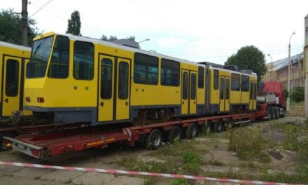 До Львова привезли німецькі трамваї. Фото