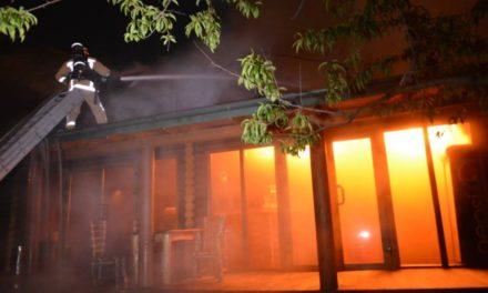 Вночі горів ресторан «Хутірець». Відео