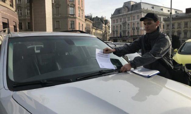 У перший день роботи інспектори з паркування виписали 37 штрафів