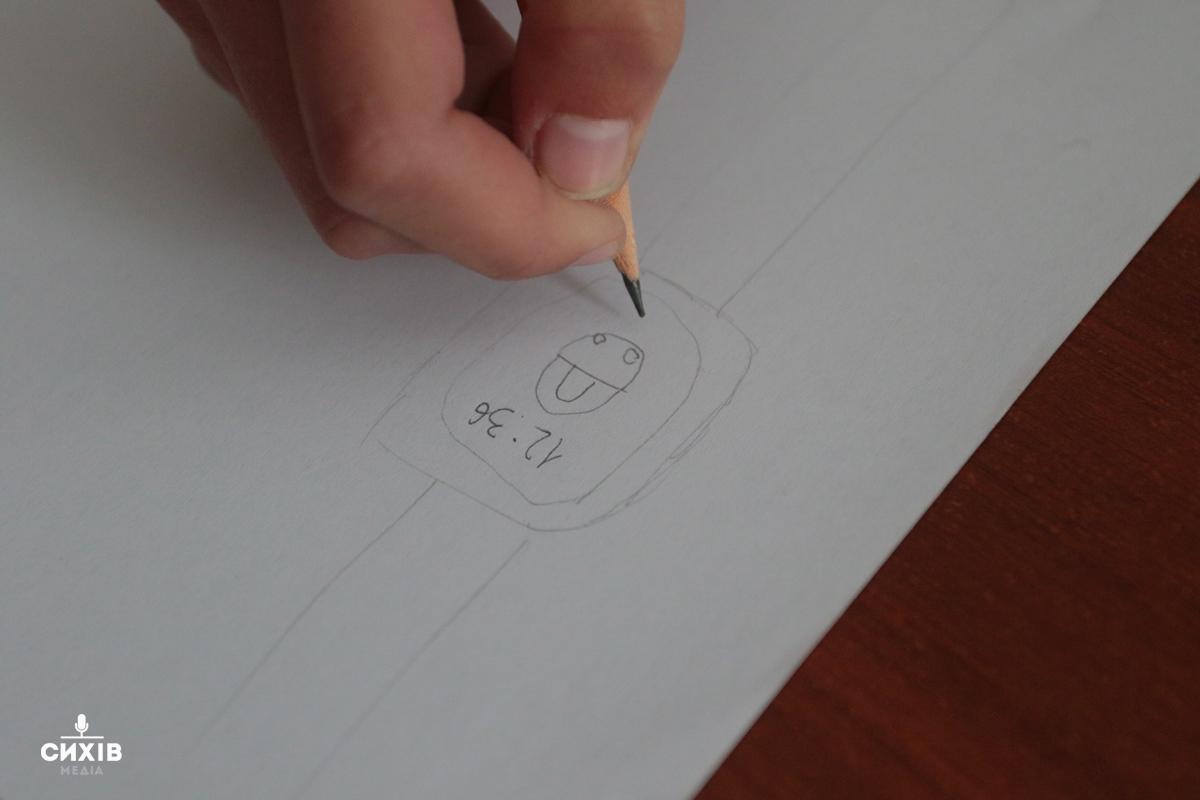 """Автори проекту створення годинника для нечуючих, Школа """"Оріана"""", Сихів, 31 січня 2019"""