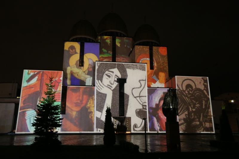 3D-мапінг на Церкві Різдва Пресвятої Богородиці. Як це було (фото)