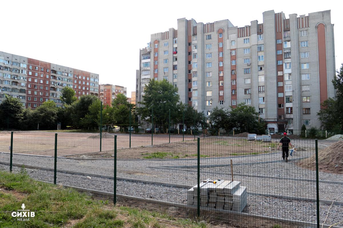 У Сихівської школи з'явиться сучасний спортивний майданчик вартістю 5 млн гривень. Фоторепортаж