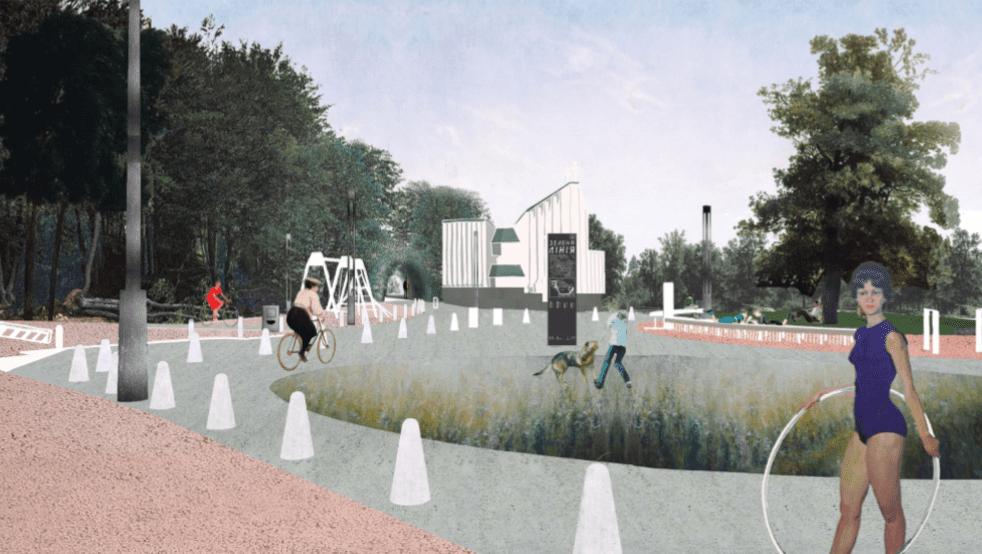 Як виглядає концепція першої ділянки велосипедного маршруту «Зелена лінія»