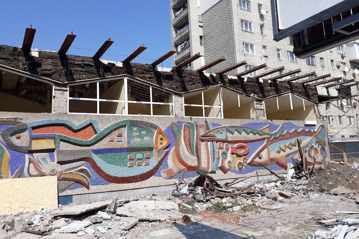 Забудовник запропонував відновити мозаїку «Океану» власним коштом