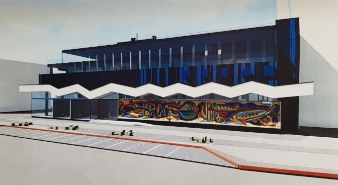 Як виглядатиме відновлена мозаїка колишнього магазину «Океан»