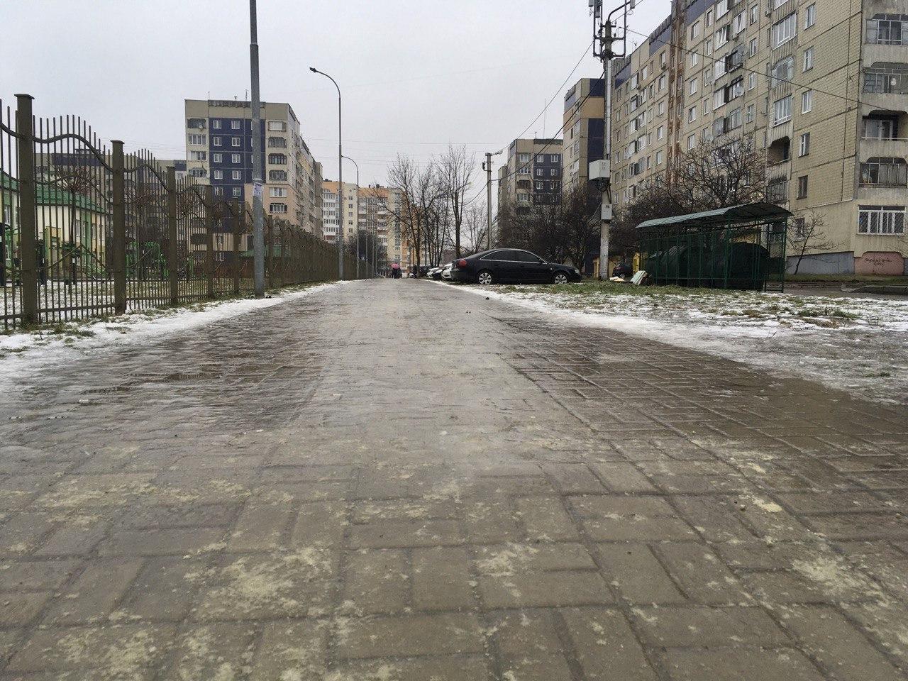 До кінця доби у Львові на дорогах зберігатиметься ожеледиця