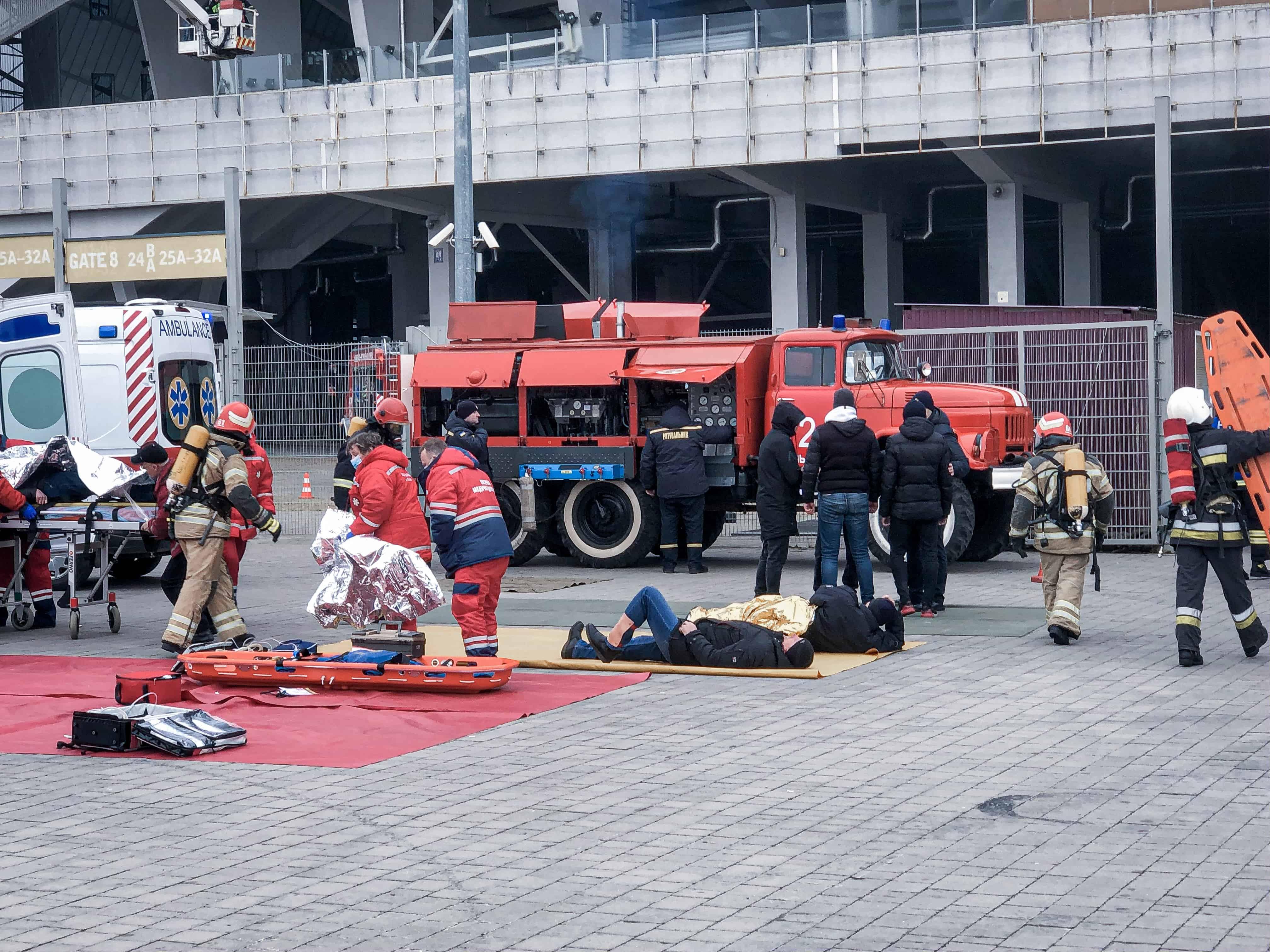 Рятувальники на «Арені Львів» гасили умовну пожежу (Фото)
