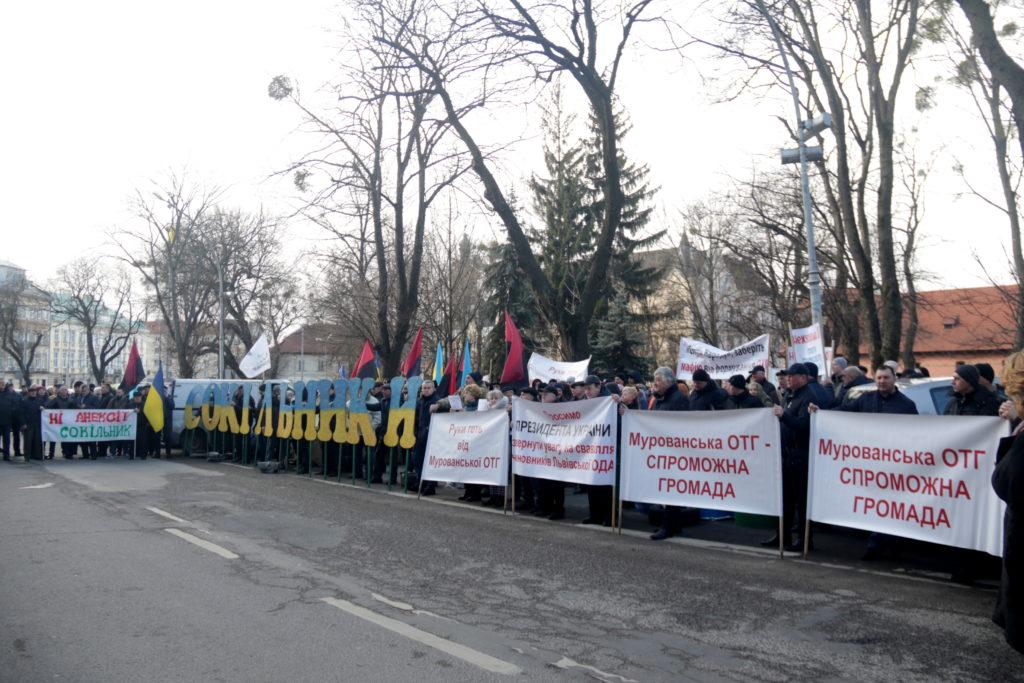 У Львові протестують проти перспективного плану ОТГ Львівщини