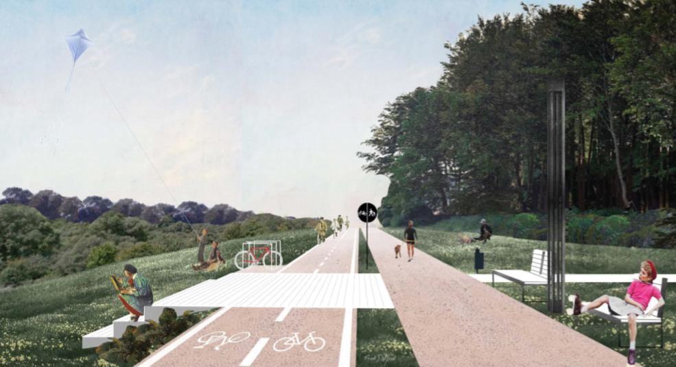 В парку ім. Івана Павла ІІ облаштують велодоріжку