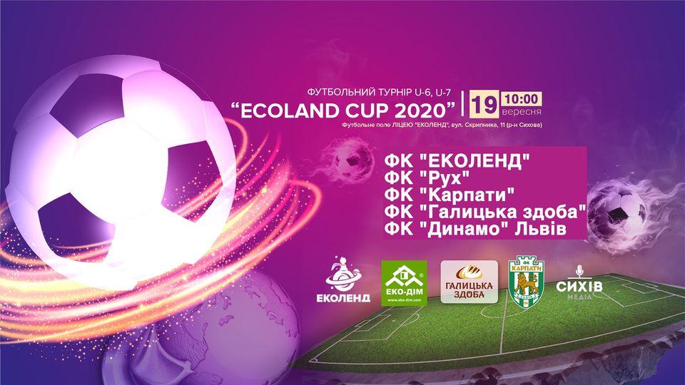 """В Сихівському районі проведуть футбольний турнір """"ECOLAND CUP 2020"""" серед хлопців 2013 року народження"""