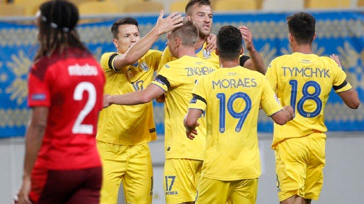 Україна обіграла Швейцарію в матчі Ліги націй