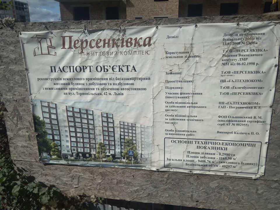 Господарський суд заборонив будівництво ЖК на вул. Тернопільській