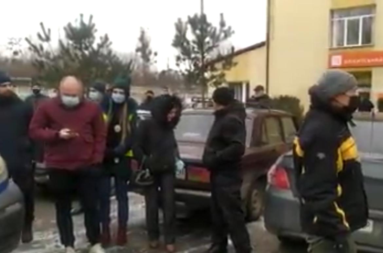 """Біля """"Львівгазу"""" протестують проти підвищення тарифів"""
