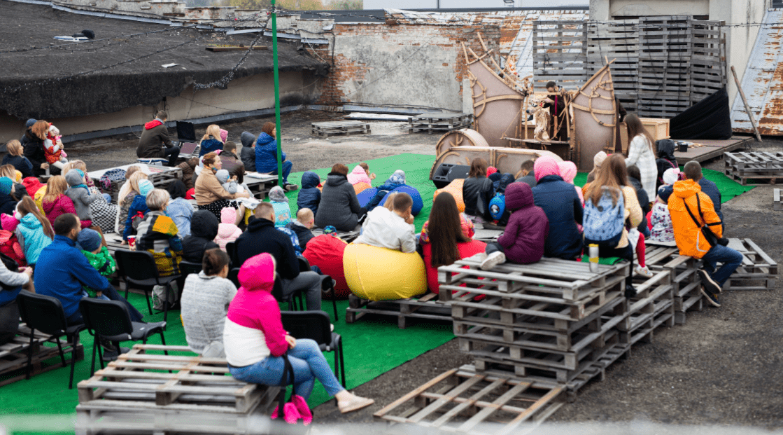 Львівський ляльковий театр на сихівському даху